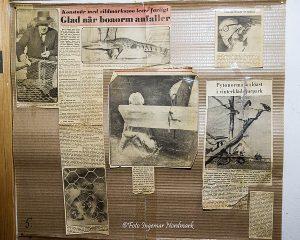 Äldre tidningsurklipp om djurparken